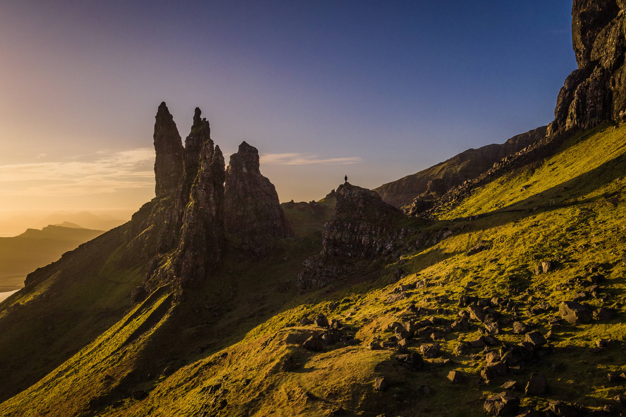 old man of storr sunrise dji mavic 2 pro
