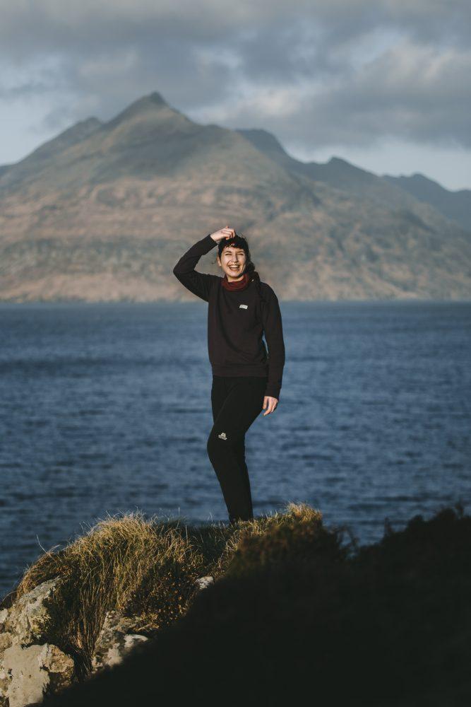 woman skye coast
