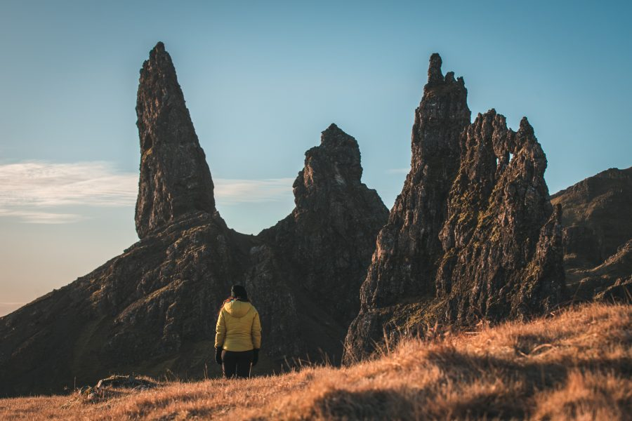 old man of storr portrait