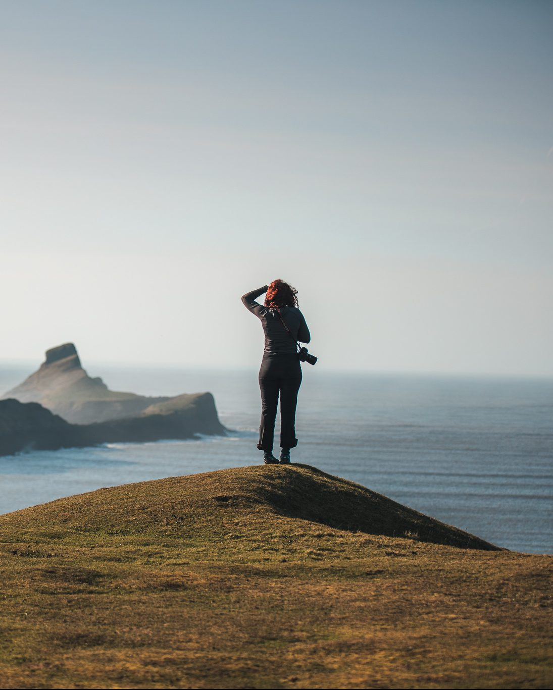 woman solo travel wales