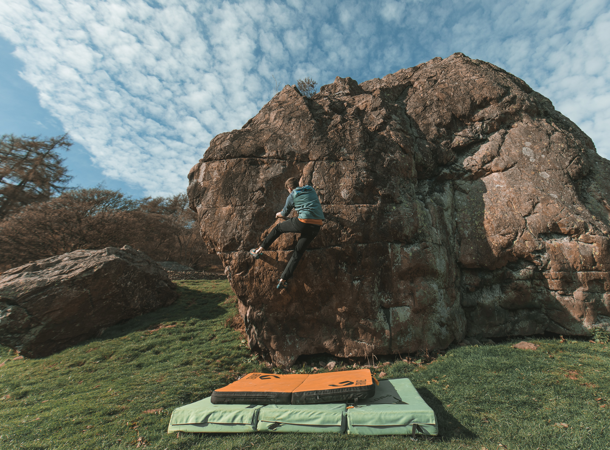 badger rock bouldering highball