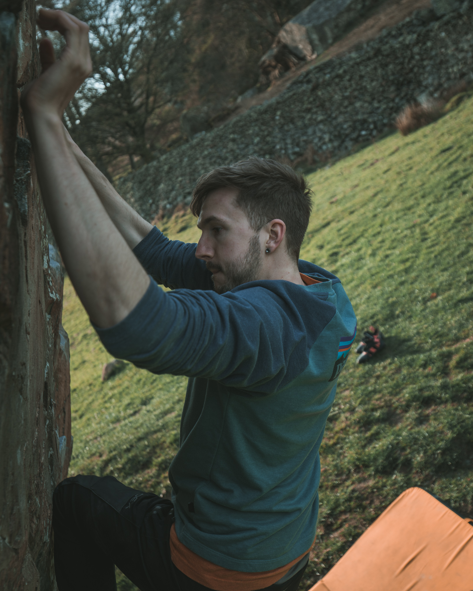 bouldering badger rock 6a