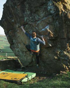 bouldering badger rock climbing