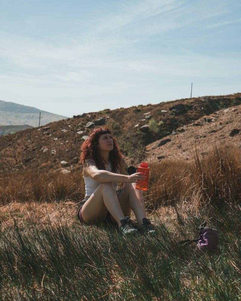 woman bouldering wales