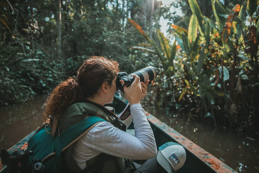 female travel photographer