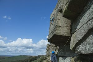 climbing photographer stanage wuthering