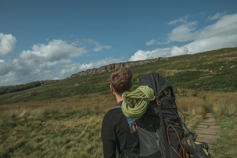 Stanage climber photography