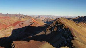 Rainbow Mountain drone photography