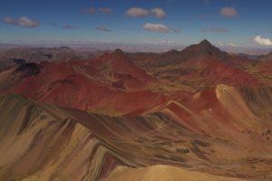 rainbow mountain drone