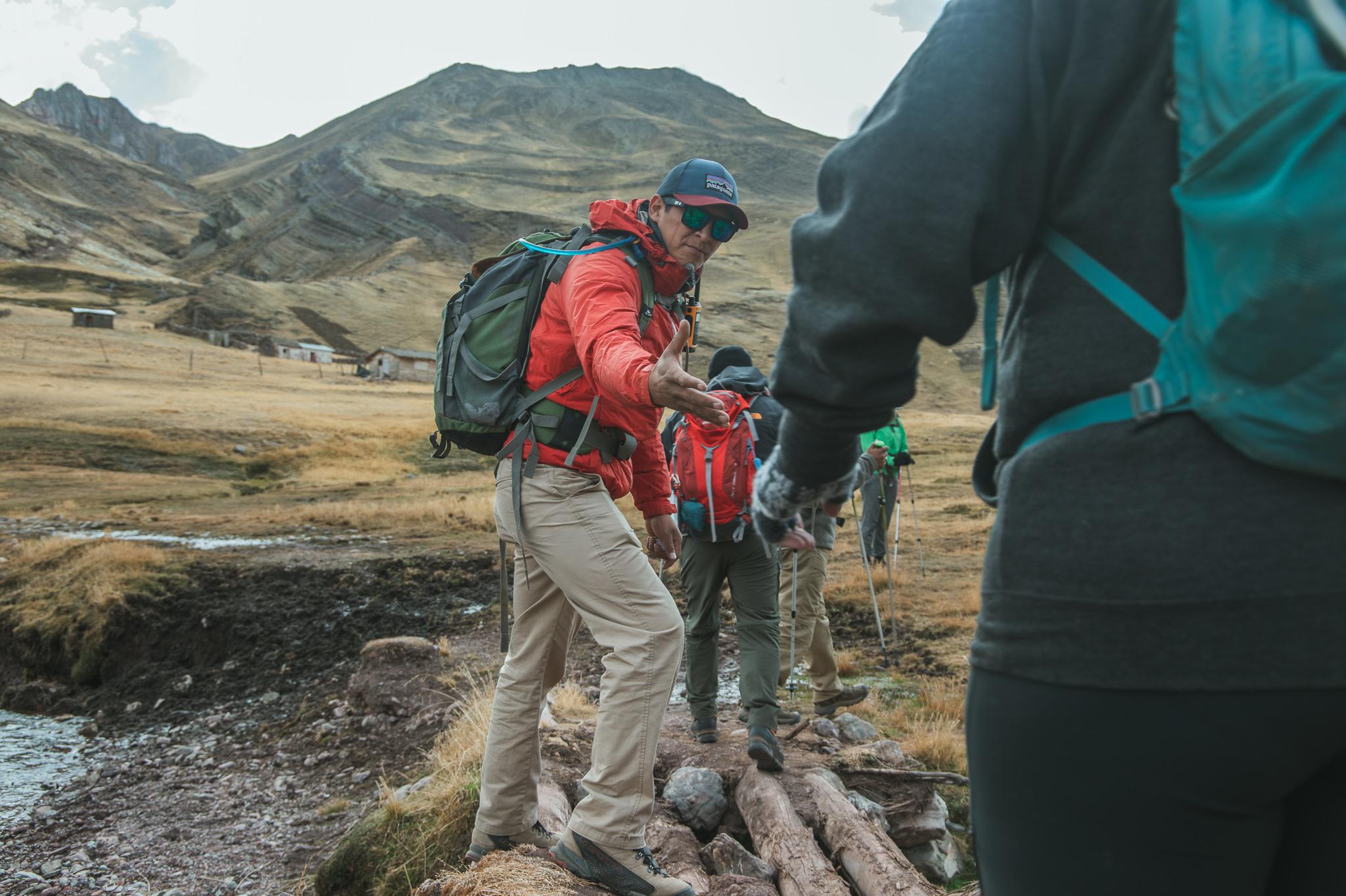 rainbow mountain base camp hike