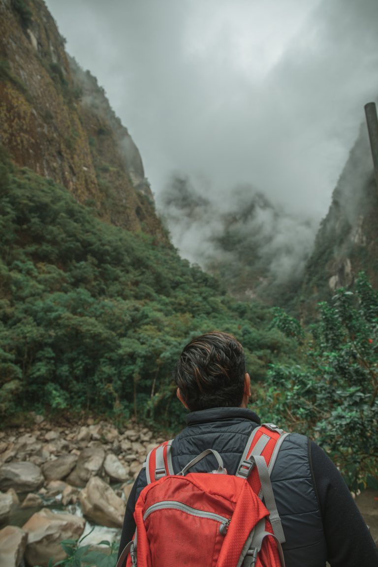 aguas calientes misty mountains portrait