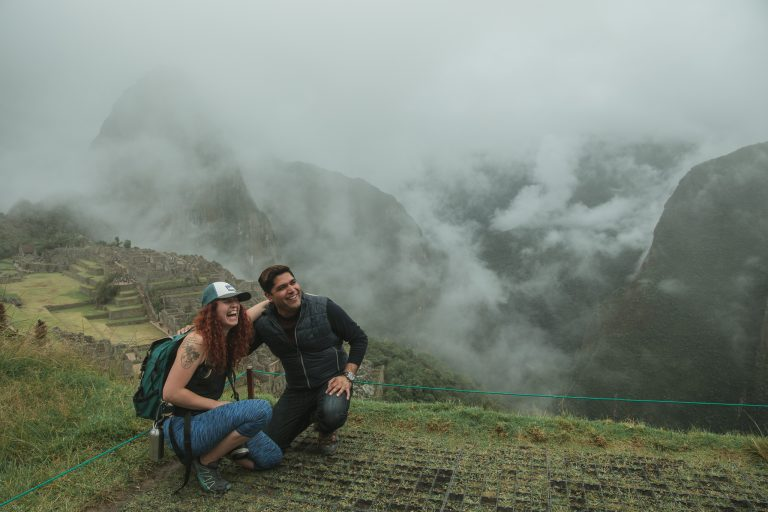 machu picchu misty rain