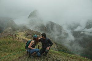 machu picchu misty rain view