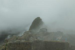 machu picchu very misty