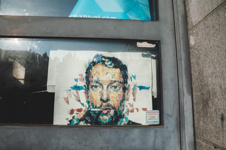amsterdam street art poster weed