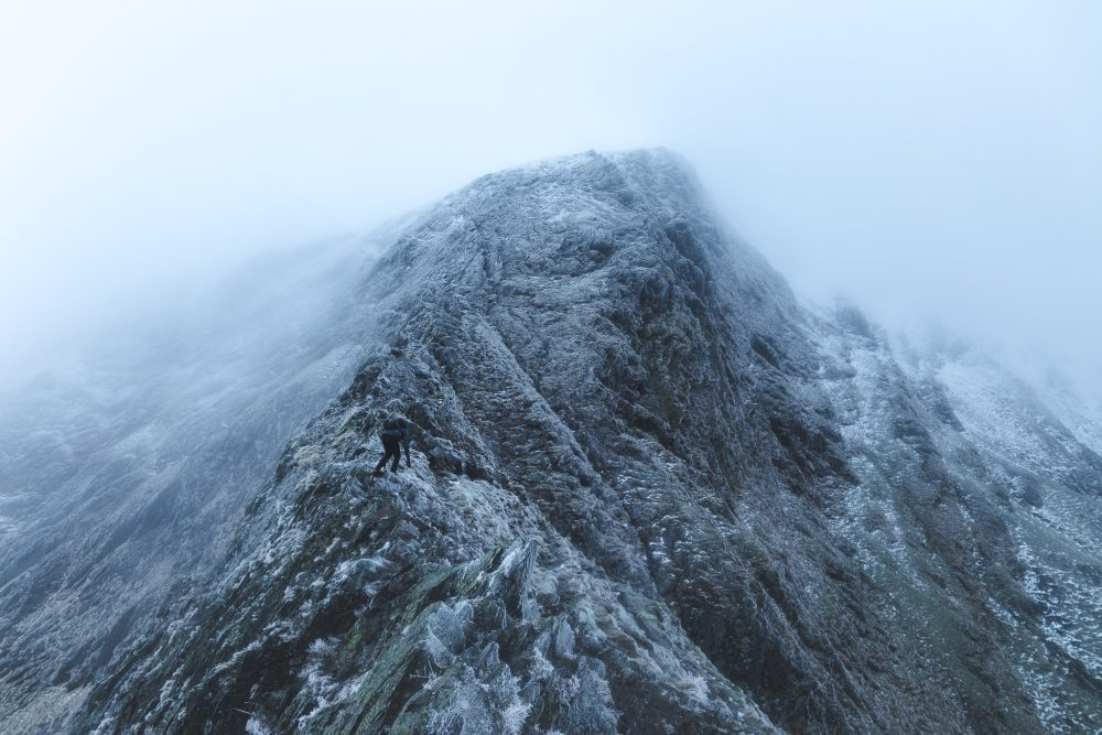 sharp edge icy