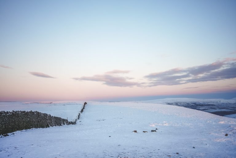 pasel sunset yorkshire dales snow