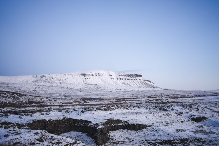 pen y ghent yorkshire dales blue hour snow
